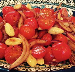 Tomato, Onion and Chilli Salad