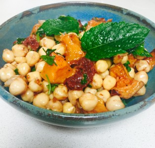 Roasted Butternut Squash and Sun-dried Tomato Chickpea Salad