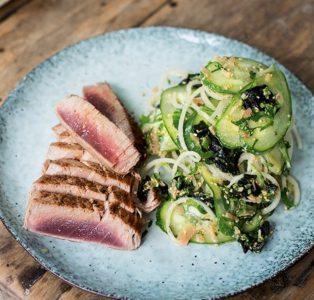 Seared Tuna, White Radish & Sesame Salad